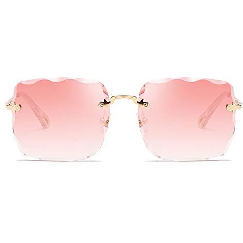 Idyandyans Unisex Randlos Rechteck Trimming Sonnenbrille UV 400 Schutz Männer Frauen Brillen Anti-UV Outdoor-Sonnenbrillen