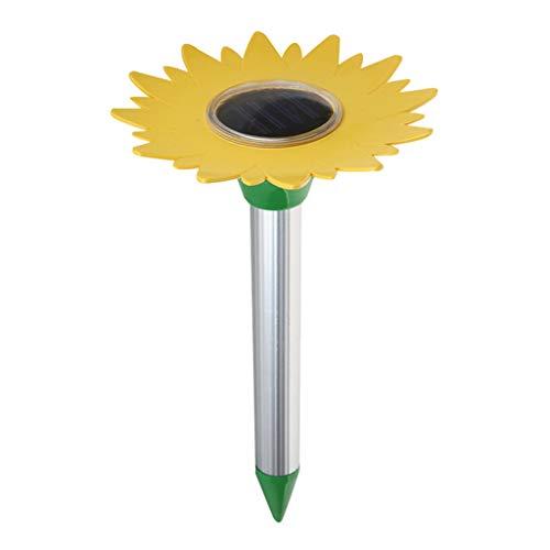 Junlinto, Sonnenblumen-Ultraschallmäuseabwehrmittel-Schlangenabwehrmittel-Ameisen-Plage-Sonnenenergie-Ratten-Ameisen-Garten-Plagen im Freien -