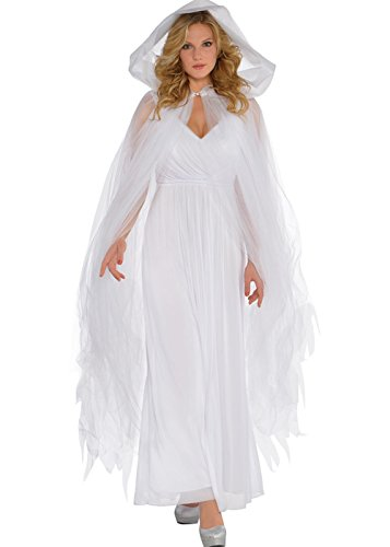 (Halloween Gothic Weiß Tulle Net Sheer Cape)