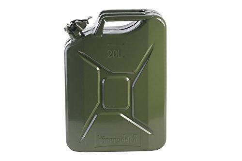 Preisvergleich Produktbild hünersdorff Metall-Kraftstoff-Kanister EXPLO-Safe 20l, mit UN-Zulassung für Benzin, Diesel und Andere Gefahrgüter, Oliv