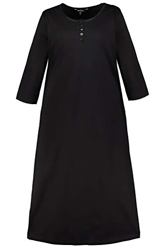 Ulla Popken Damen große Größen Kleid schwarz 46/48 718793 10-46+ -