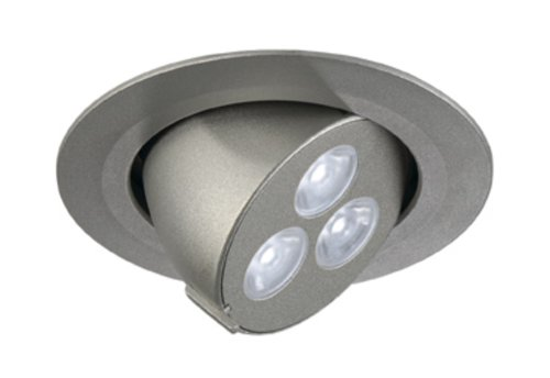 Deckeneinbauleuchte TRITON 3 GIMBLE LED 3x1W, silber eloxiert, LED weiß EEK: A+