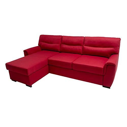 Alfa sofa divano letto nantes a 3 posti con chaise longue reversibile da 154 cm, 230cm x 87cm x 88cm (tessuto: 02/21)