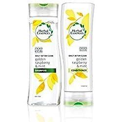 Herbal Essences täglich Detox Glanz Shampoo und Haarkur mit Himbeere und Minze mit Exclusiv Beauty Spitzen