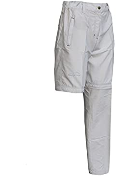 Mountain Peak Damen Trekkinghose Wanderhose in 4 Farben, Zip Off Quick Dry Pants.