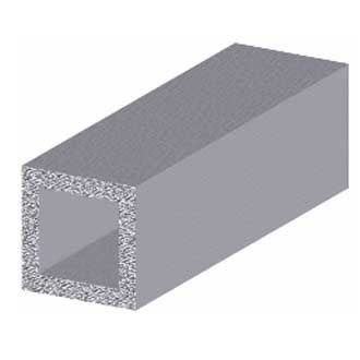 "PROFILE AUS ALUMINIUM SILVER ""SQUARE TUBE"" BxHxS 20x20x1 mm. Lung ...."