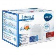 BRITA MAXTRA+ - 4 filtros para el agua, cartuchos de filtrado para el agua, recambios compatibles con jarras BRITA que reducen la cal y el cloro