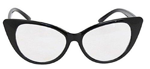 Brillenmodell CAT VINTAGE JAHRE 50 bis 60 Modellen zu wählen (BLACK TRANSPARENT) (Sonnenbrille Kira)