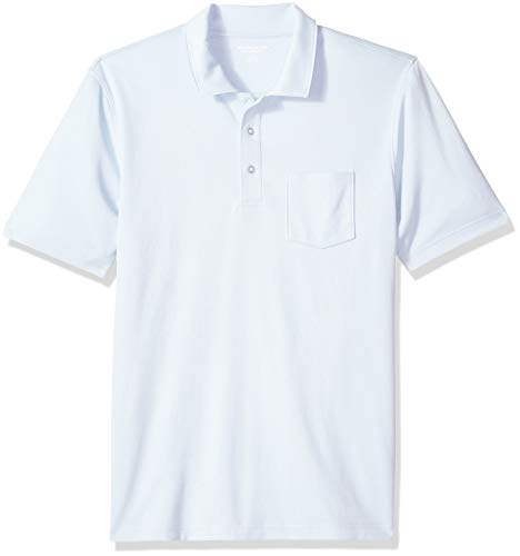 Amazon Essentials Regular-Fit Jersey polo-shirts, Light Blue, US M (EU M) -