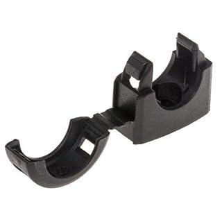 Adaptaflex Cable Clip Black Screw Nylon Conduit Clip, 16mm Max. Bundle
