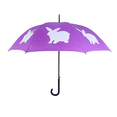 San Francisco Umbrella Company - Regenschirm Kaninchen lila/weiß [W]