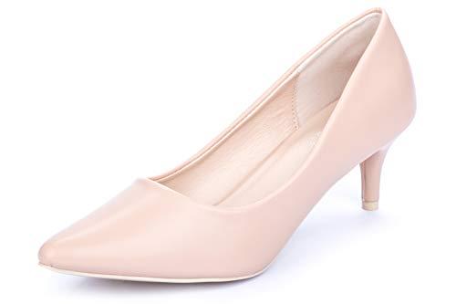 La Push Dalia Zapatos de Mujer Tacón Rosa Palo (40 EU, Crema)