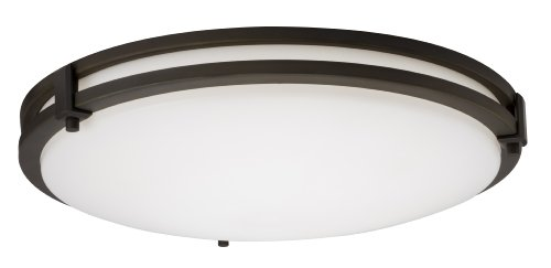Lithonia Lighting 11750 BZA M4 Saturn Round 2-Light Energy Star 13-Inch Semi Flush Light, Antique Bronze by Lithonia Lighting (Antique Bronze Semi Flush)