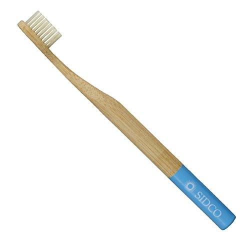 SIDCO ® Bambus Zahnbürste Bio Natur Zahnreinigung vegan Bambuszahnbürste blau
