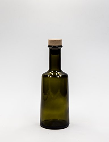 nr 1 Glasflasche Primula 250 ml aus grünem Glas Korkverschluss n°26 -