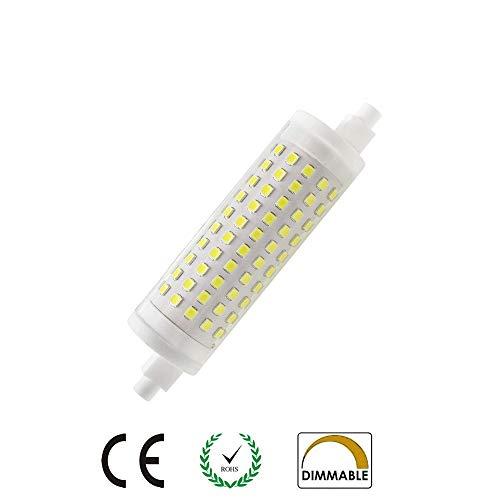 AscenLite R7s LED-Leuchtmittel, 15W, 118 mm, dimmbar, Kaltes Weiß, 6000 K, entspricht 150 W Halogenlampe