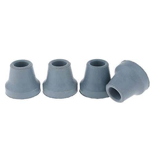 Unbekannt Sharplace 4er-Set Anti Rutsch Gehhilfenfuß für Gehstöcke Gehhilfen Gummi Krücke - Grau