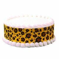 Safari Leopard Print Border Edible Image by A Birthday Place -