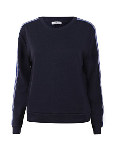 Lee Damen Sweatshirt Taped, Größe:XS, Farbe:Midnight Blue (DB)