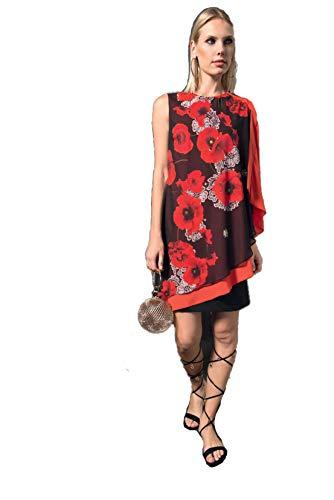 check-out 04fc4 a044a Edas Luxury Slimer Robe Courte avec IMPRIMÉ Pavot 50