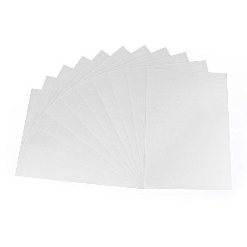 ewtshop Jumbo-Set Schrumpffolienplatten, A4 0.3 mm, matt transparent, 10Blatt + 10 Schlüsselanhänger- Set Shrink plastic sheets +keychain rings