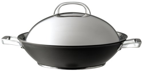 Circulon Infinite Hard Anodised Covered Stirfry Wok, 36 cm