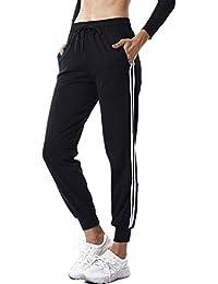 b891dedcfec3 FITTOO Damen 2 Gestreift Streifen Freizeithose Jogginghose Hose Sportswear  Style