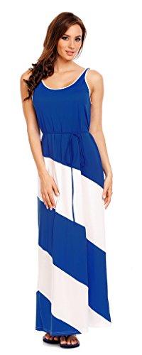 Mia Suri Women's Summer Striped Maxi Long Party Dress Blue/White Size 8