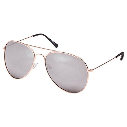 Ciffre EL-Sunprotect® Pilotenbrille Fliegerbrille Sonnenbrille Brille Top Design Gold SilberSpiegel