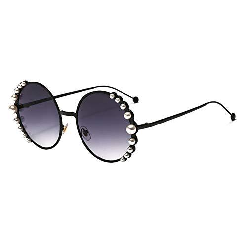 HYUHYU Runde Frauen-Sonnenbrille Mit Perlen Mode-Accessoires-Metall-Sonnenbrillen Für Damen Neujahrsgeschenk