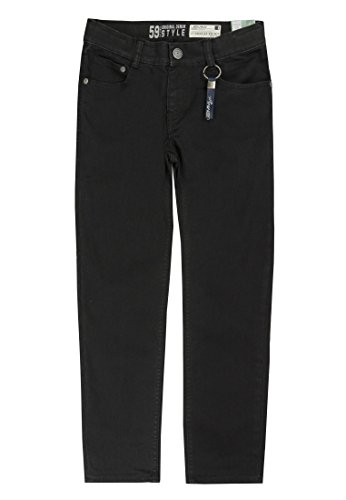 Lemmi Jungen Hose Jeans Tight fit MID, Schwarz (Black Denim 0010) 146