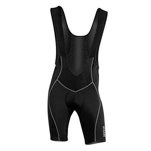 Männer Frauen Mountainbike MTB Radhose Hohe Elastische Silikon Gepolsterte Komfortable Enge Fahrrad Tragen Shorts (schwarz) (Tragen Shorts)