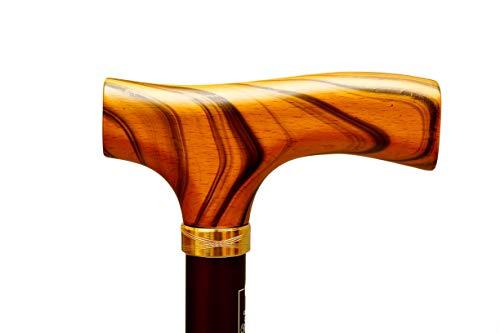 Gehstock Cannes Fayet 1909 Legendäres Ausziehbarer Gehhilfe Wanderstock Krückstock, Natürlichem Holz Handgriff mit einer 100 Jahre Tradition, Aus Ultraleichtem Aluminium mit Drehbar und Bodenstütze