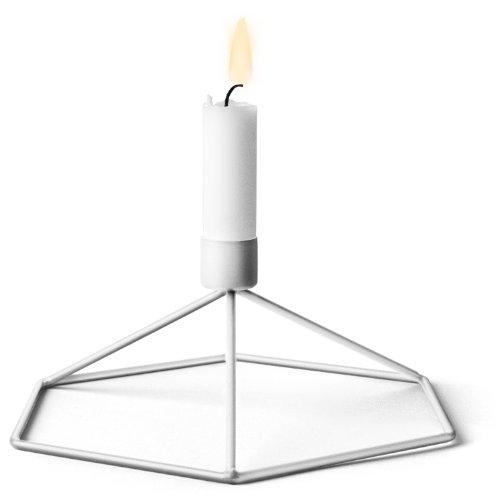 Menu 4767639 Tisch-Kerzenhalter POV, 8 x 21 x 18,5 cm, weiß