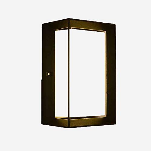 LED Wandleuchte Modern Outdoor Wasserdicht und Feuchtigkeitsbeständig Lampen Kreative Einfache Rechteckige Hof Tür Korridor Villa Garten Wand Leuchtkörper,WarmWhite - Druckguss-wand-halterung