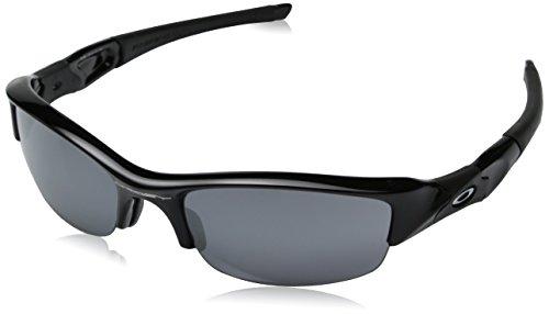 Oakley Herren 03-881 Wrap Sonnenbrille, Jet Black/Black Iridium (S3)