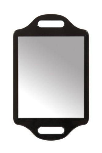 Matty Bond - Espejo con doble asidero, color negro