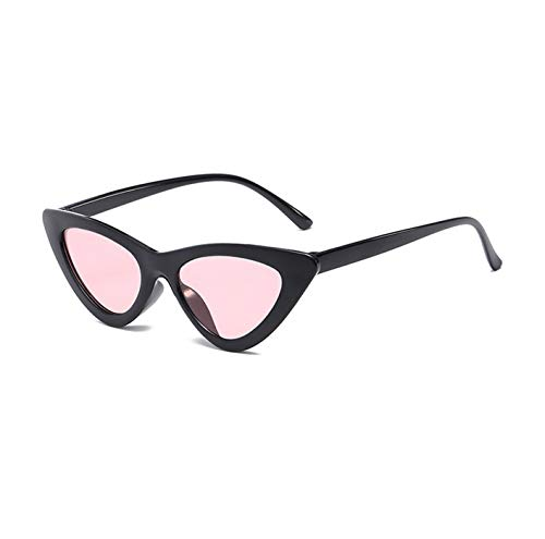 Daawqee Cute Sexy Retro Cat Eye Sunglasses Women Small Black Transparent Pink NEW Triangle Vintage Cheap Sun Glasses Red Female Uv400 black red