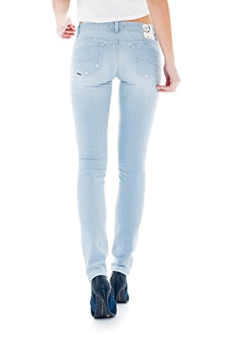 Salsa - Pantalons déchirés Push Up taille basse délavage premium - Shape Up - Femme Bleu