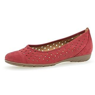 Gabor 24.169 Damen Ballerinas,Frauen,Flats,Sommerschuh,klassisch Hovercraft- Luftkammernsohle,rot,6 UK