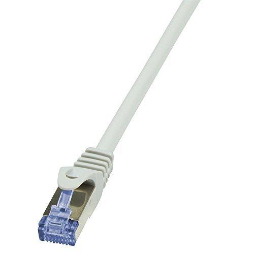 faconet® 10X Câble 25cm 0,25m Blanc Câble patch réseau Internet Câble RJ45paire torsadée Cat. 6A Cat. 7600MHz 10g s/ftp PIMF jusqu'à 10Gigabit/s