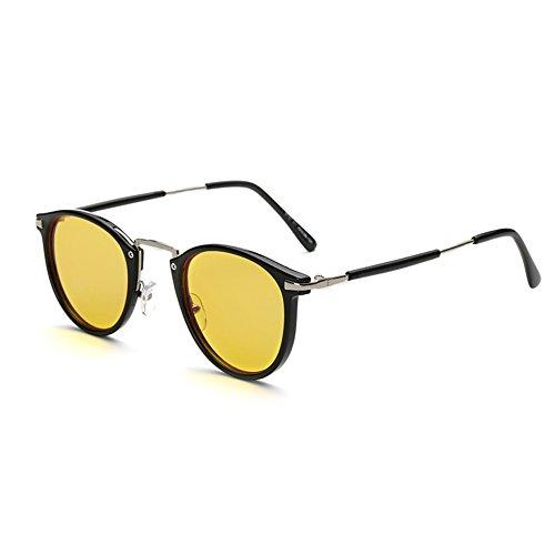 Cyxus Anti Blaulicht Brillen Runden Rahmen [gelb linse] besser schlafblock uv computer brillen, blockingkopfschmerzen, anti augenbelastung (Brille Blues Schwarz)