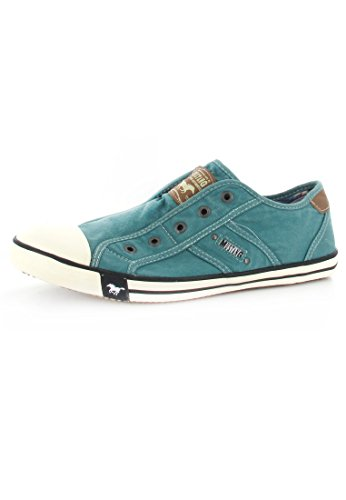 Mustang  Slipper, chaussures femme - Turquoise - Türkis (smaragd 760) Turquoise