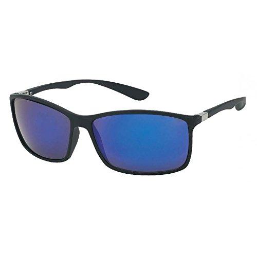 Chic-Net Lunettes de soleil unisexe plaine voyantes des lunettes de nerd sombre teinté UV 400 Wayfarer jaune oAQzga
