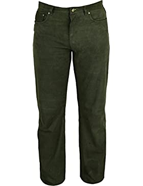 Jagd Lederhose Herren lang- Lange Lederhose Damen - Lederjeans- Echt Leder festem Nubuk - Lederhose Jeans 501...