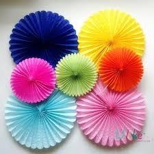Madcaps Paper Fan Decoration - Orange (Set of 3) 12