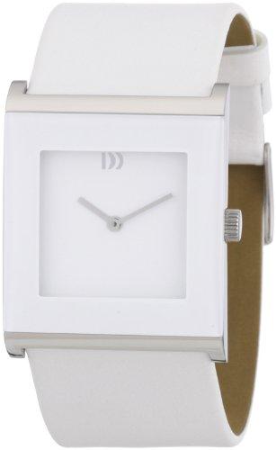 Danish Design 3324389 - Reloj analógico de cuarzo para mujer con correa de piel, color blanco