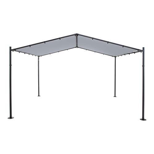 SORARA Pavillon   Gris   400 x 350 cm / 4 x 3.5m 250 g/m² Polyester (UV 50+)  pour Jardin, Patio, extérieur