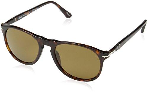 Persol po9649s occhiali da sole, marrone (havana/polarized brown), 55 uomo