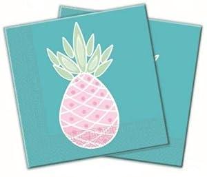 Lote de 20 servilletas de papel piña pastel talla única, multicolor, PR89951